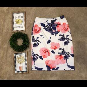 Custom made floral knit skirt